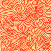 Orange and red swirls doodles