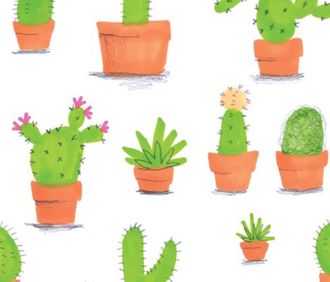 Cactus & Succulents  fabric by jo_clark on Spoonflower - custom fabric