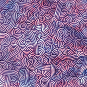 Purple swirls doodles