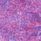 Neon pink and purple swirls doodles