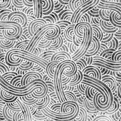 Grey and white swirls doodles