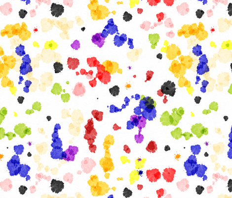 Watercolor Tutti Frutti Coordinate fabric by vannina on Spoonflower - custom fabric