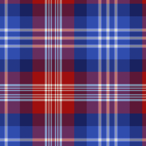 "American St. Andrews Society / US Bicentennial tartan, 9"" fabric by weavingmajor on Spoonflower - custom fabric"