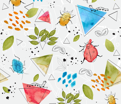 Beasty-Watercolour-2 fabric by lydesign on Spoonflower - custom fabric