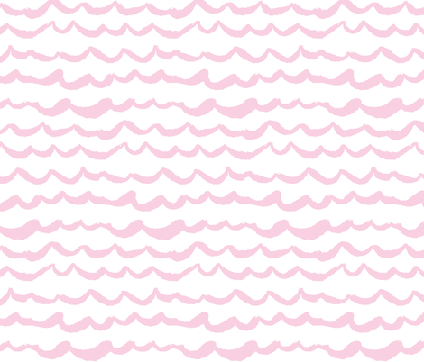 Playful Patterns - Waves of Wonder Pink fabric by kooki_studio on Spoonflower - custom fabric