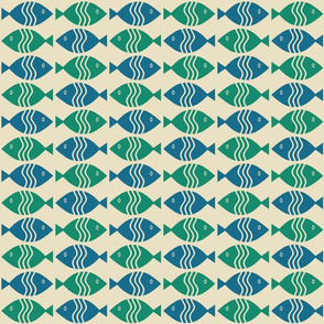 Blue Green Fish