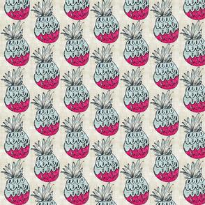 pineapple bash MED263- vintage linen tropics