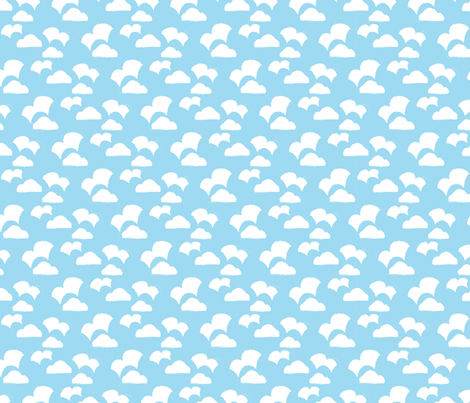 Playful Patterns - Clouds fabric by kooki_studio on Spoonflower - custom fabric