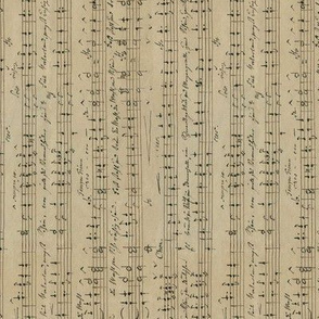 Carl Wilhelm's seamless handwritten sheet music