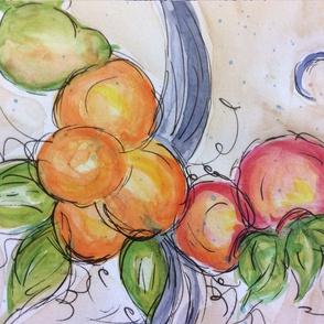 peach, apple,pear