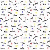 Numbers in Spanish / Spanish numbers words and primary colors