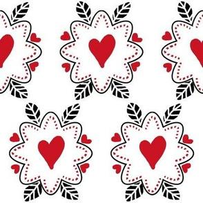 Love In - Red,white &  black
