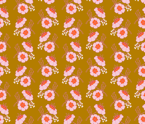 Grandma Wallpaper fabric by bashfulbirdie on Spoonflower - custom fabric