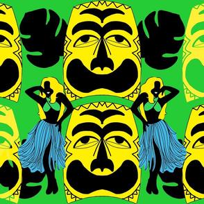 Retro tiki hula