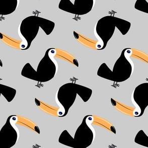 toucan - solid grey