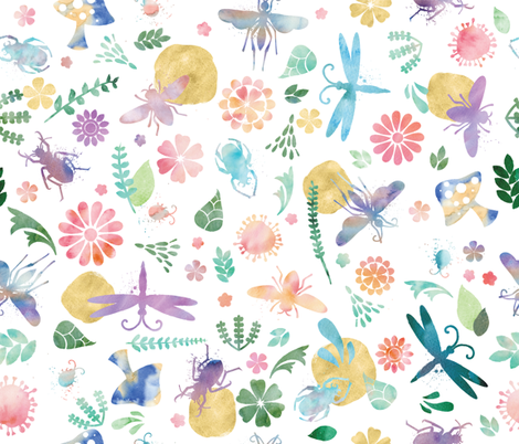 Wild World in Watercolor fabric by creativetaylor on Spoonflower - custom fabric