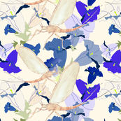 Dayfly Painting on Gentian Pattern