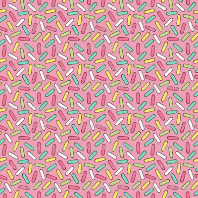Sprinkles in Pink Tiny Small