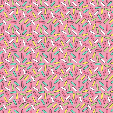 Sprinkles in Pink Tiny Small fabric by caja_design on Spoonflower - custom fabric