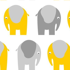 Yellow Grey Elephants
