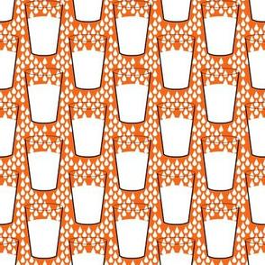 milk on orange