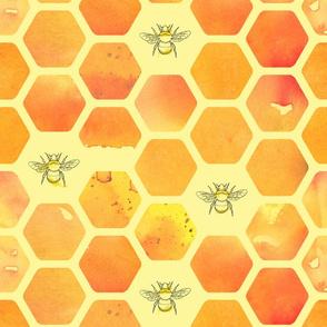 watercolour honeycomb