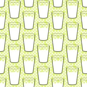 Milk on yellow