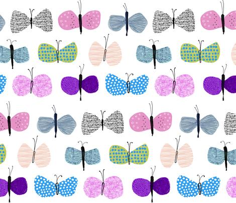 flying butterfly 2 fabric by kazakka on Spoonflower - custom fabric
