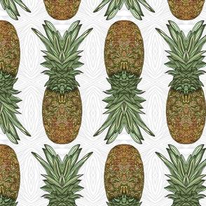 Pineapple Pattern White