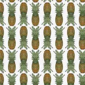 Pineapple Pattern White (small)