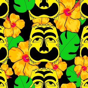 Tropical tiki black