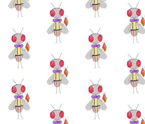 Fly with poopsicle fabric by pimento on Spoonflower - custom fabric