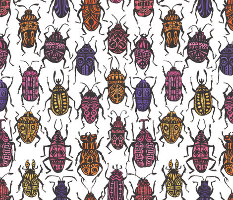 Beetle Madness fabric by artfully_minded on Spoonflower - custom fabric