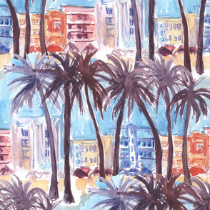 Miami Beach Watercolor