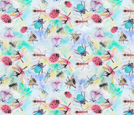 Whimsical Insects fabric by edinburghese on Spoonflower - custom fabric