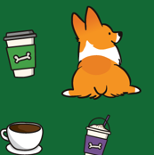 Corgis and Coffee Red Pembroke