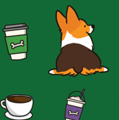 Corgis and Coffee Tricolor