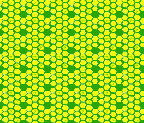 Hexies - Citrus fabric by pennydog on Spoonflower - custom fabric