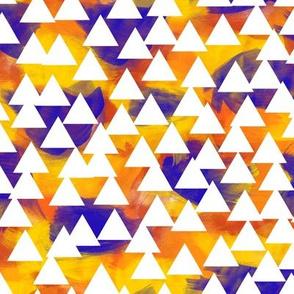 Orange Watercolor Triangles