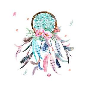 """8"""" Quilting Block / Pink & Aqua Headdress"""