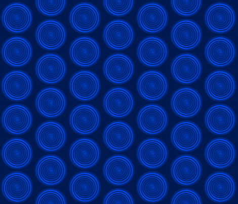 Spiraling in Blue fabric by helena_tiainen on Spoonflower - custom fabric