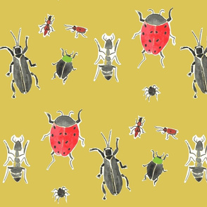 watercolor creepy crawlers