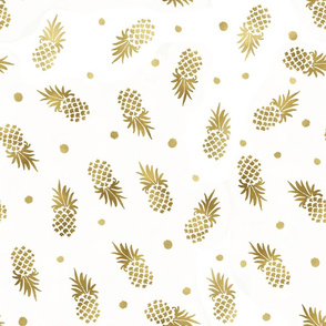 Gold Pineapples Dot custom
