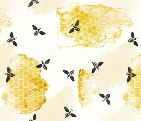 busy bee fabric by littlearrowdesign on Spoonflower - custom fabric