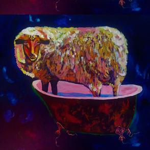 Sheep in Bathtub