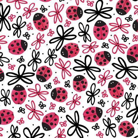 Lucky Bugs fabric by robyriker on Spoonflower - custom fabric