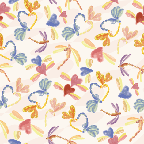 DragonFly Love fabric by cleolovescolor on Spoonflower - custom fabric