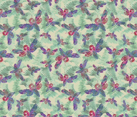 Spoonflower-Whimsical-Hide-n-Seek fabric by fiona_solley on Spoonflower - custom fabric