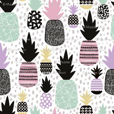 Pastel tropical hawaiian summer sweet kawaii pineapple fruit for girls LARGE
