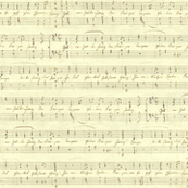 seamless handwritten sheet music - Haydn